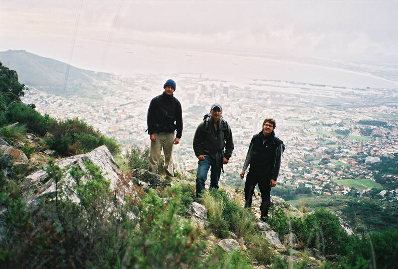 Climbing at Table Mountain, Capetown South Africa, 2002.