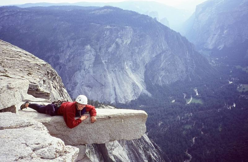 Summit of Halfdome, Yosemite NP, after Regular NW Face, 2000.