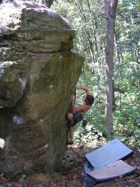 Arron trying to keep it together on Split Personality.  You can clearly see the line of holds for Resolution to his left.