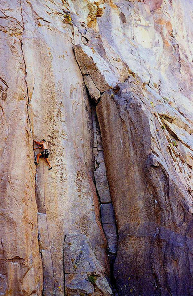 O.R.G.asam (5.11a), Owens River Gorge<br> <br> Photo by Tyler Logan