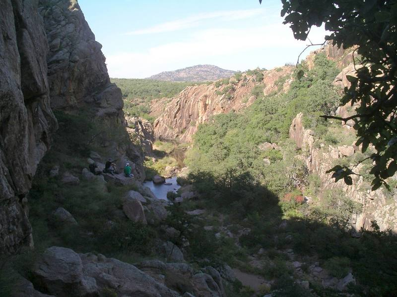 View up the Narrows from Middle Zoo Wall.