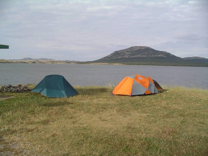 Mount Scott as seen from across Lake Lawtonka.