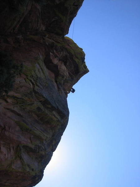 Rappeling off the 1st Flatiron