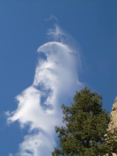 Cool, ethereal clouds above Boulder Canyon.