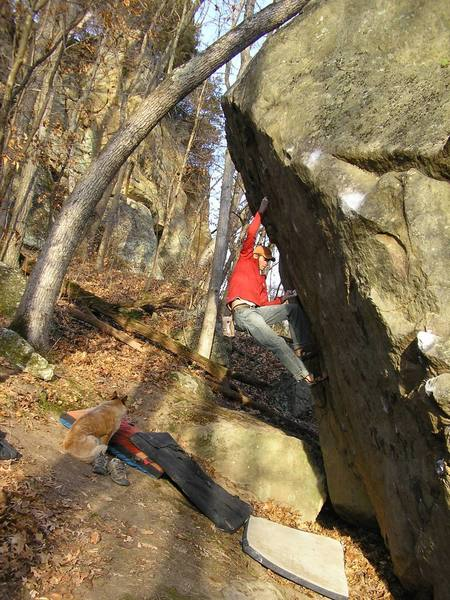 Breathing life back into a forgotten classic. The Godfather V4,  Box Canyon Boulders, Governor Dodge, WI