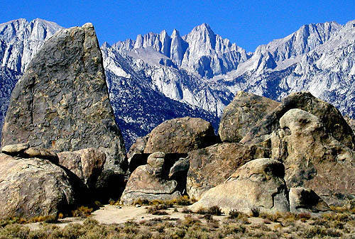 Shark's Fin and Mt. Whitney.<br> Photo by Blitzo.