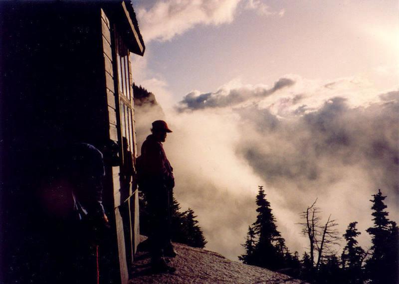 Todd Gordon waits out a storm.