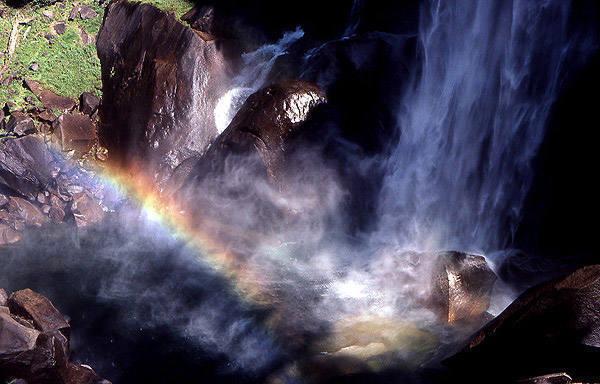 Rainbow-Vernal Falls.<br> Photo by Blitzo.
