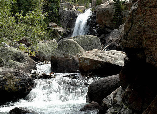 Alberta Falls-RMNP.<br> Photo by Blitzo.