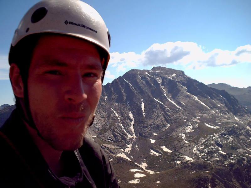 Me on the East Ridge of Wolf's Head, Wind River Range