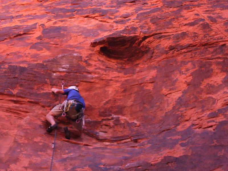 David at the 3rd bolt