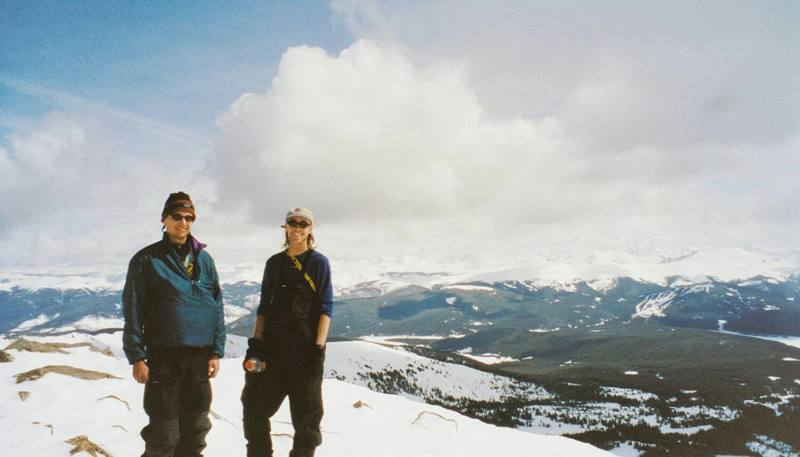 Byron and Dave, Homestake Peak, CO