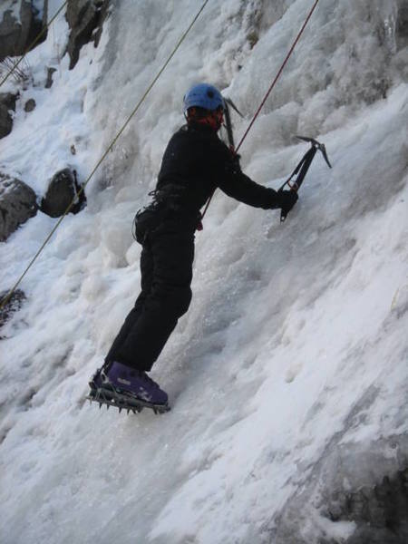 Christian on the first pitch of Great White Ice on 12/05/2006.
