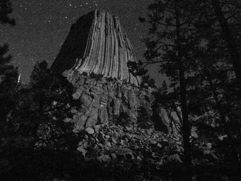 Tower at night.