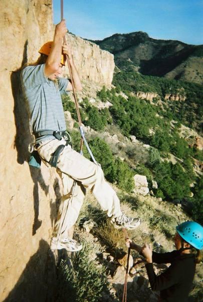 """Ben """"climbing"""" an 11a at Shelf Road (CO)"""
