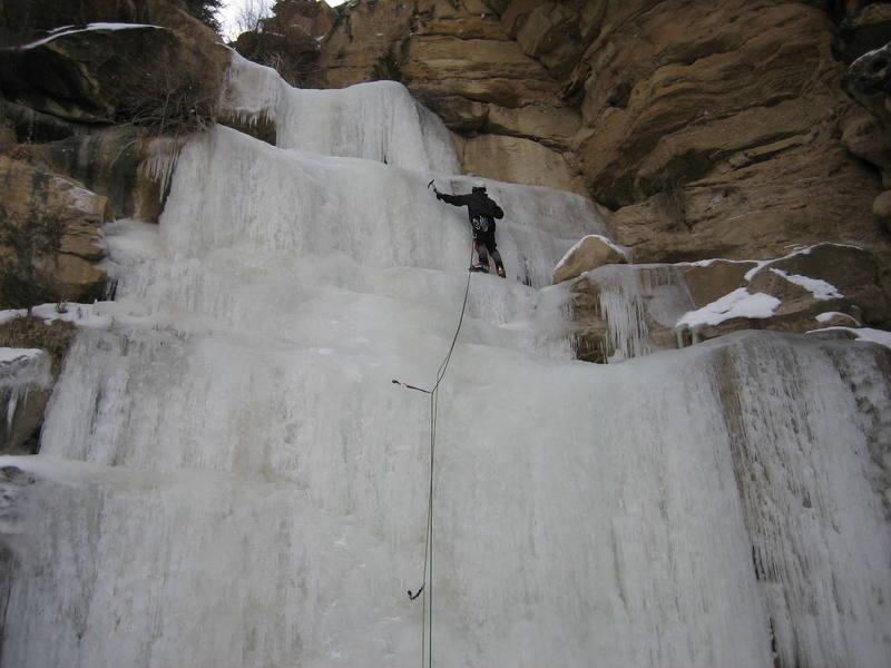 Bobby leading CCC Falls.