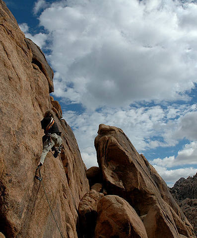Some new route in Indian Cove.<br> Photo by Blitzo.