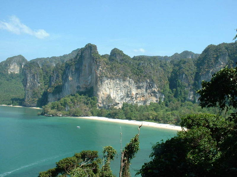 Railay West from up high on Thaiwand Wall.