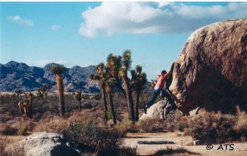 Bruce doing some bouldering around the Chili Sauce area