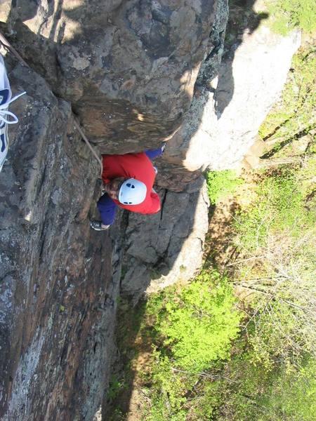 "Eastvillage on ""Reflection of Fall"" 5.9+<br> Merimere Face, East Peak"