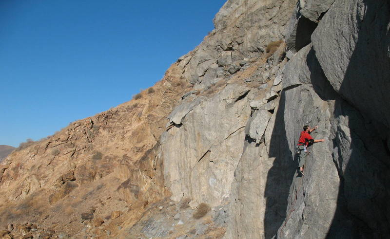 Steven K. on Hump Or Dump (5.8), Riverside Quarry