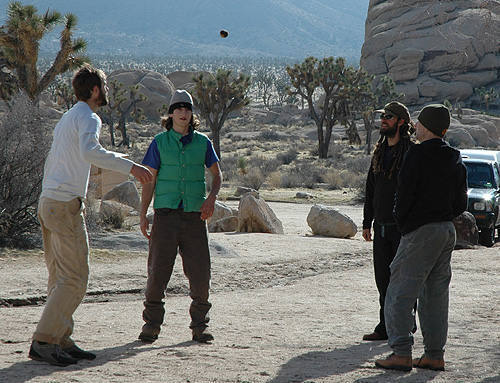 Hacky Sack at Hidden Valley Campground-Joshua Tree.<br> Photo by Blitzo.