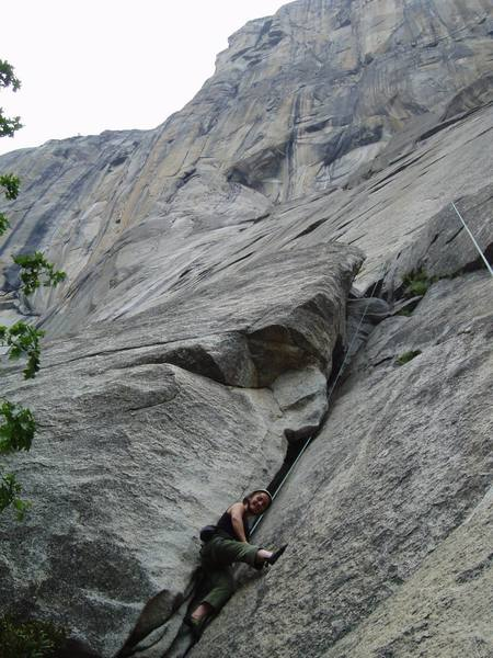 Lil' Dandy on El Cap...only about 2,960 ft. to go.....