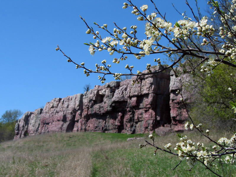Blue Mounds in April 2004.