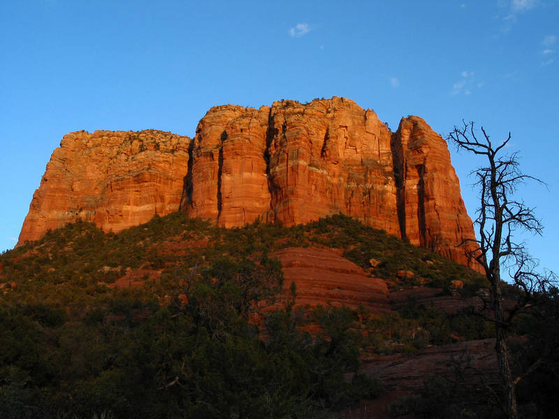 Courthouse Butte from the trail.