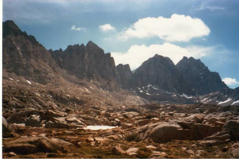 North Palisades from Dusy Basin
