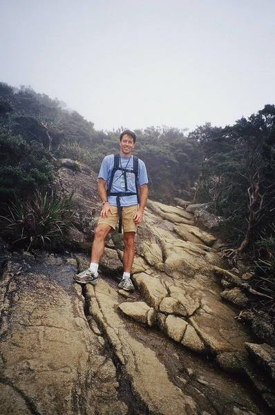 The trail to the summit of Kinabalu is clear and well traveled.