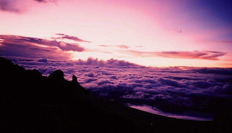 I've seen worse places to be at Sunrise than the summit of Kinabalu. Photo by Tony Bubb, 12/06.