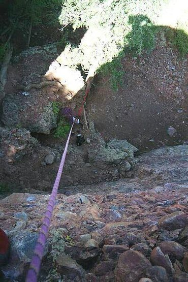 Looking down from the Apple Cobbler anchors.