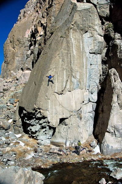My Mom Can Crank (5.12a), Owens River Gorge
