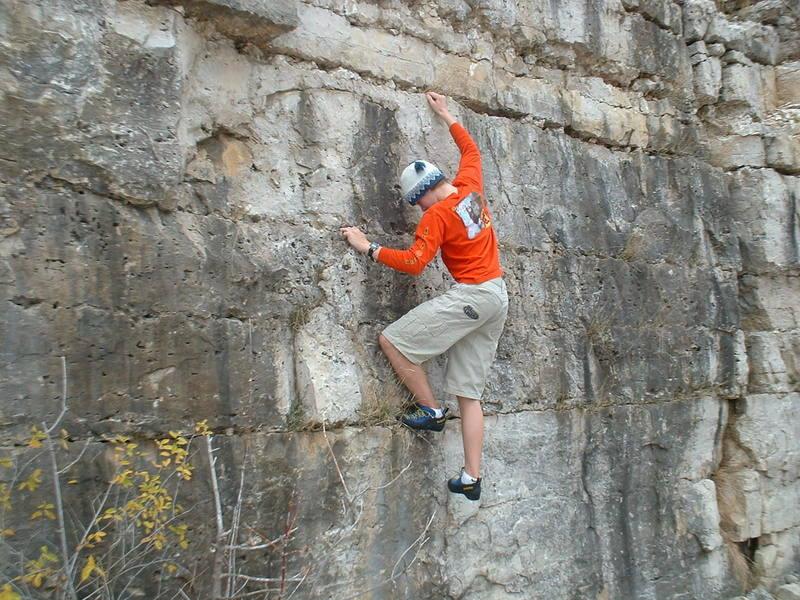 Climbing the North Quarry.