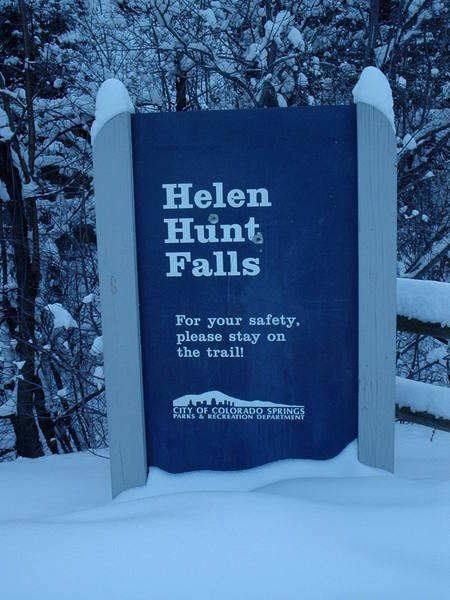 Trailhead sign.