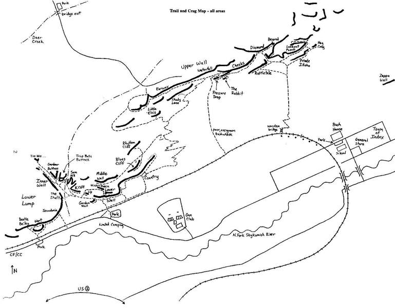 Cal Folsom's nice trail map, from the 1993 guide
