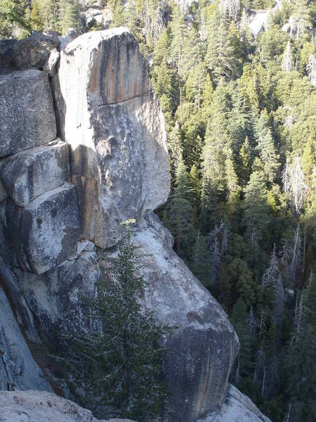 The top orange block of Eagle Pinnacle