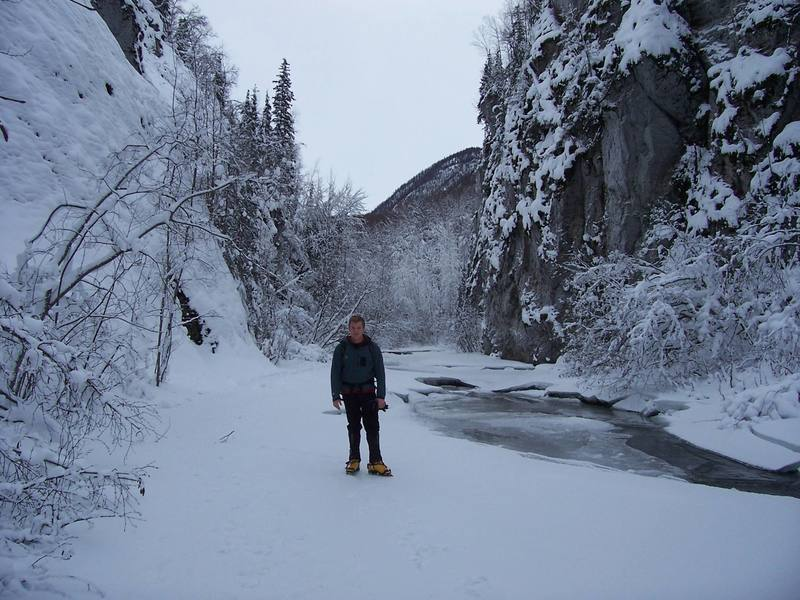 In the middle of Eklutna Canyon
