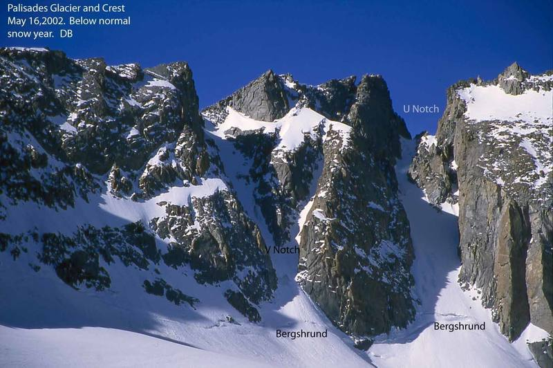 Palisade Glacier, Sierra's.  Good beta photo.  Lotta classic, established alpine routes with plenty of new route potential.