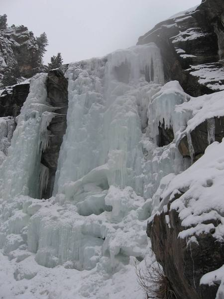 Upper ice falls in Clear Creek Canyon as of the 14th of January, 2007.