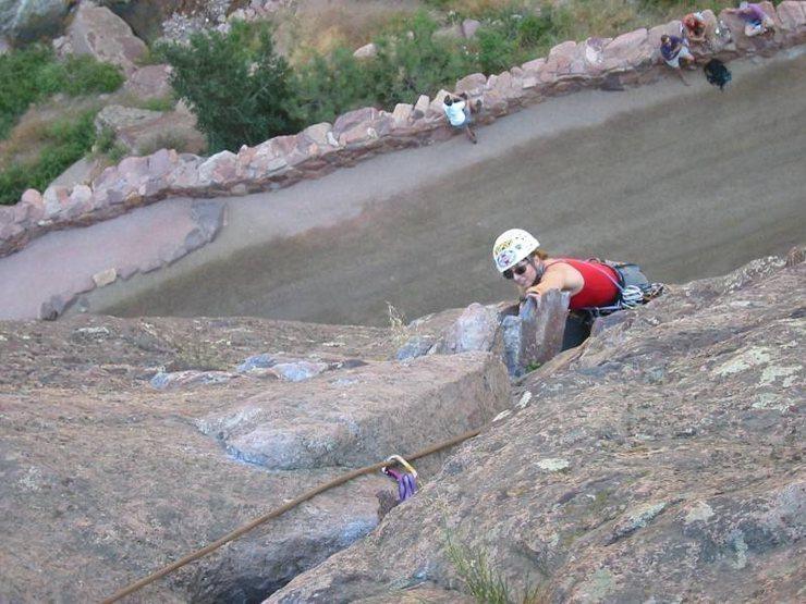 Joanne Robertson chasing the chipmunk up Werk Supp.