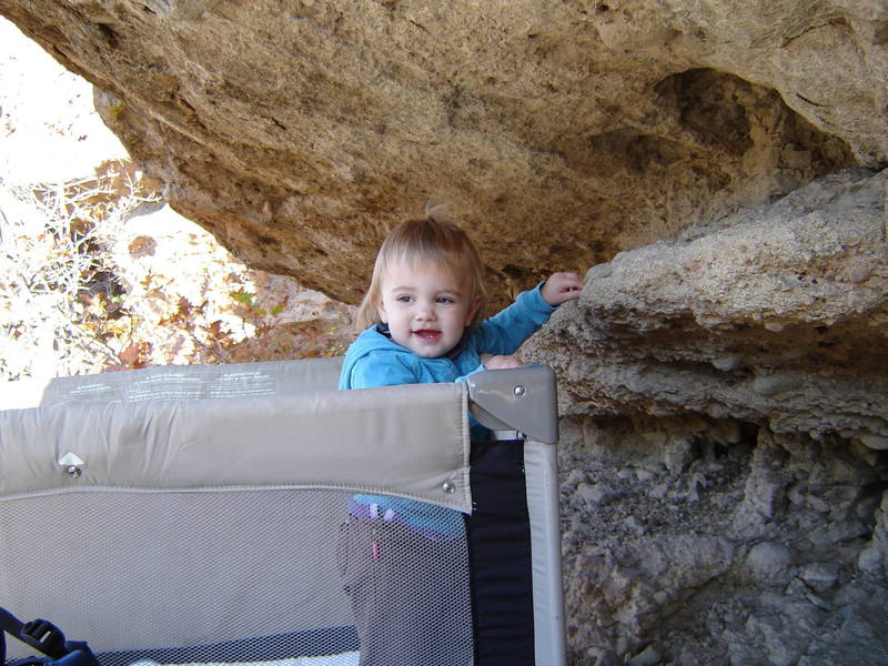 Never too young to start climbing...