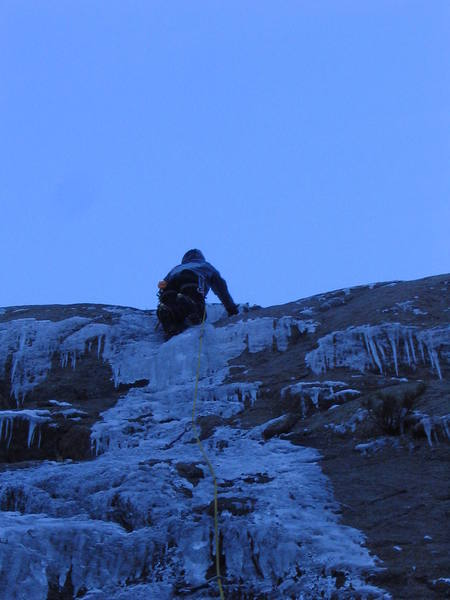 Edward gaining on the 3rd ascent.