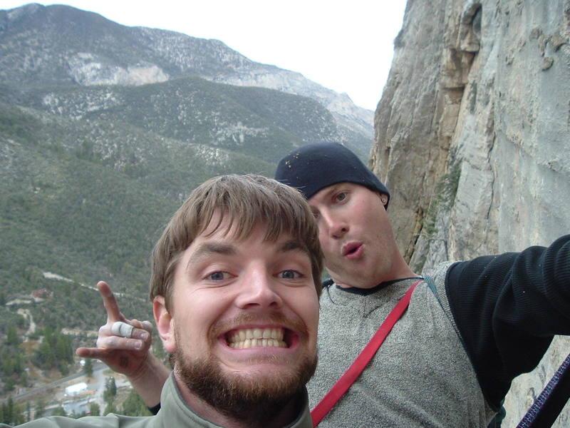 'Clown' shot of Josh and I...