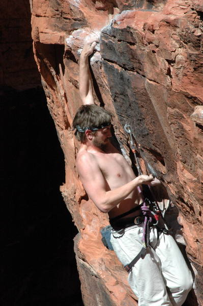 Crux moves at the undercling.
