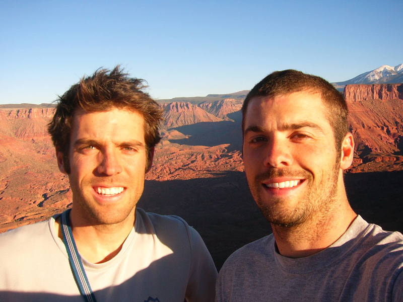 My brother, Dan, and I on the summit of Jah Man.