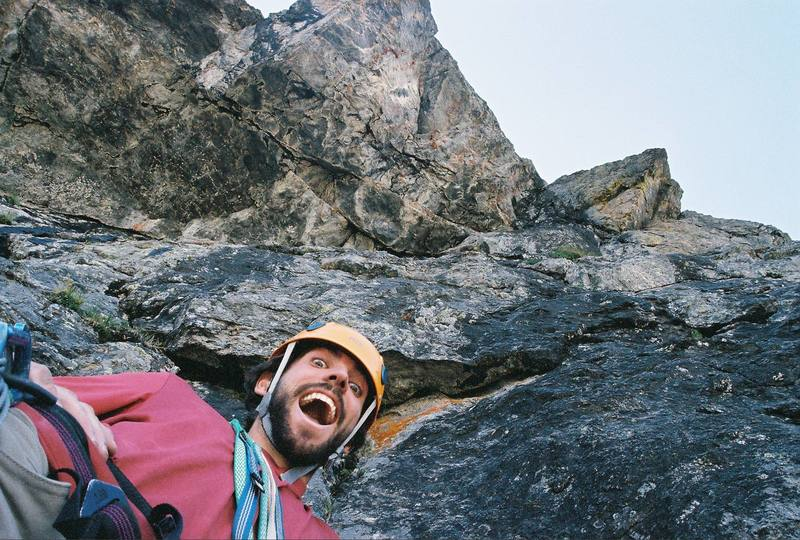 The crux above.