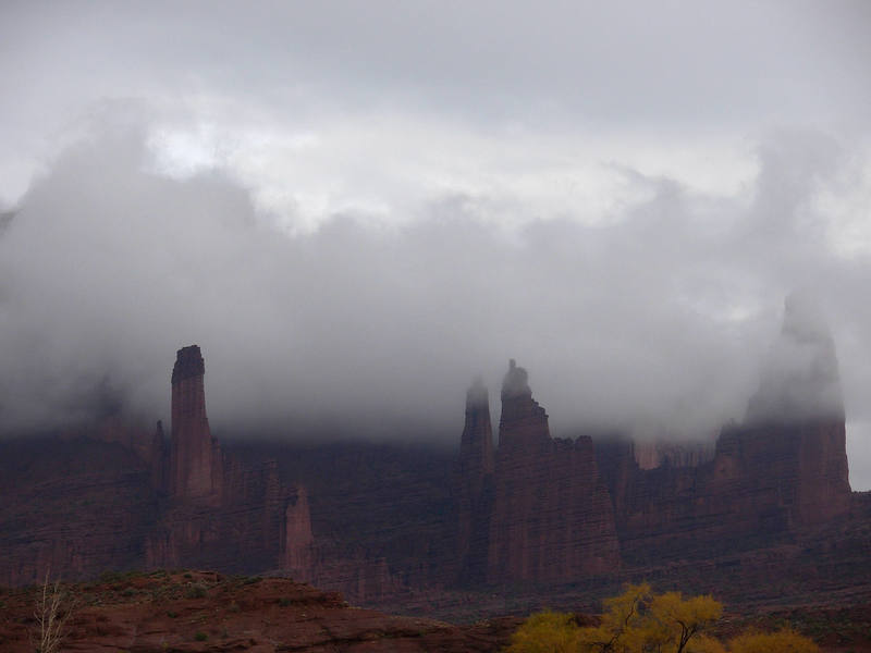 Storm over the Fisher Towers