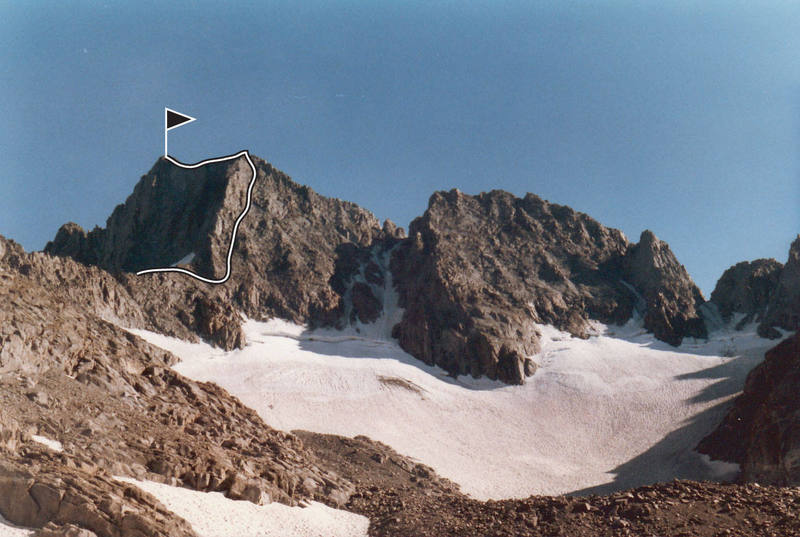 NNE Ridge seen from the Clyde Glacier
